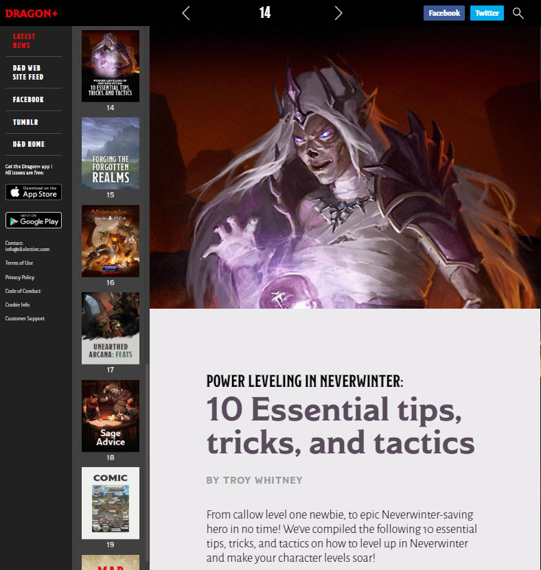 Dragon Magazine Article - Neverwinter Power Leveling
